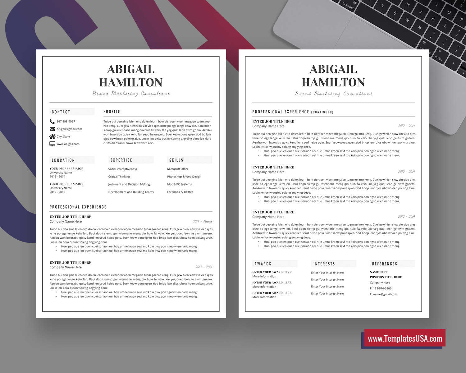 References Resume Template from www.templatesusa.com