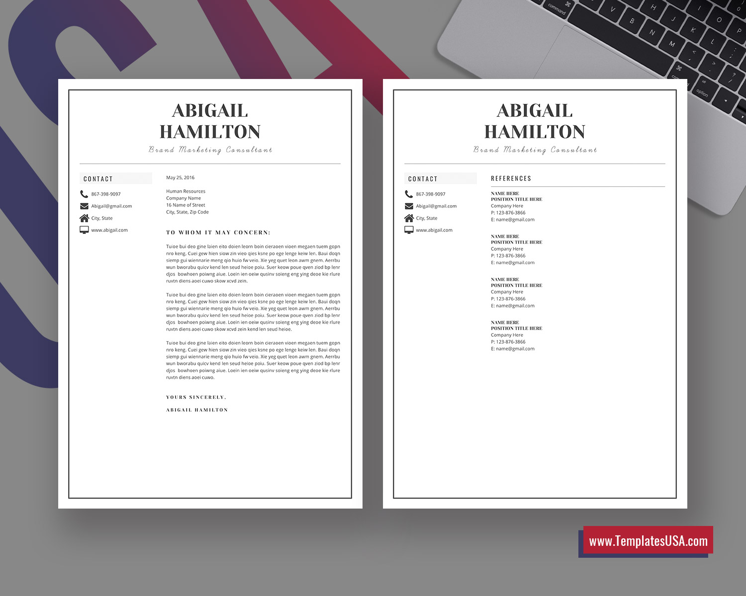 Cover Letter With References from www.templatesusa.com