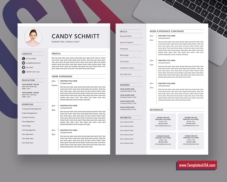 Modern Resume Template Creative Cv Template Professional Cv