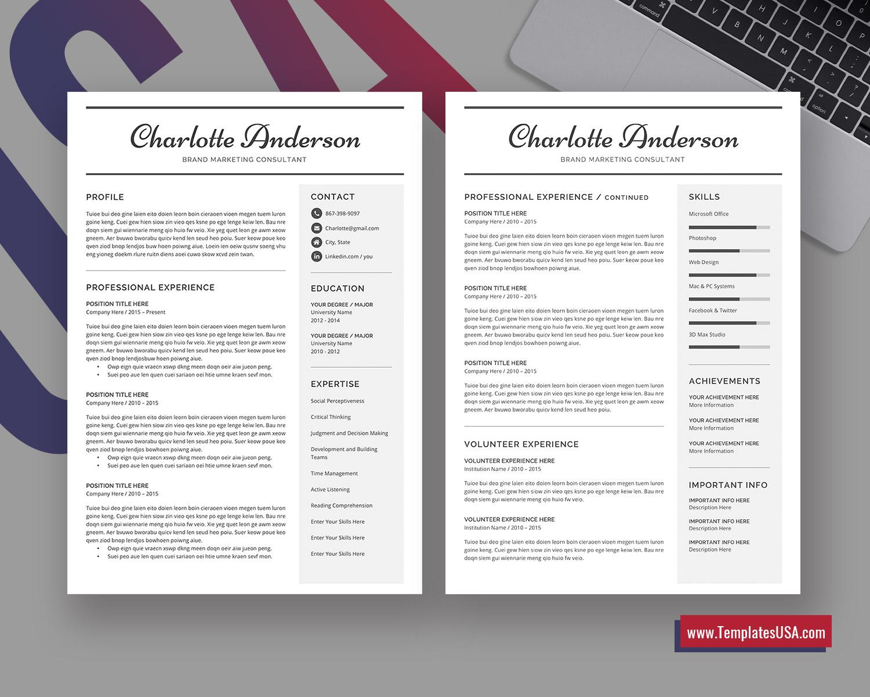 2020 Editable MS Word Resume Template Curriculum Vitae ...