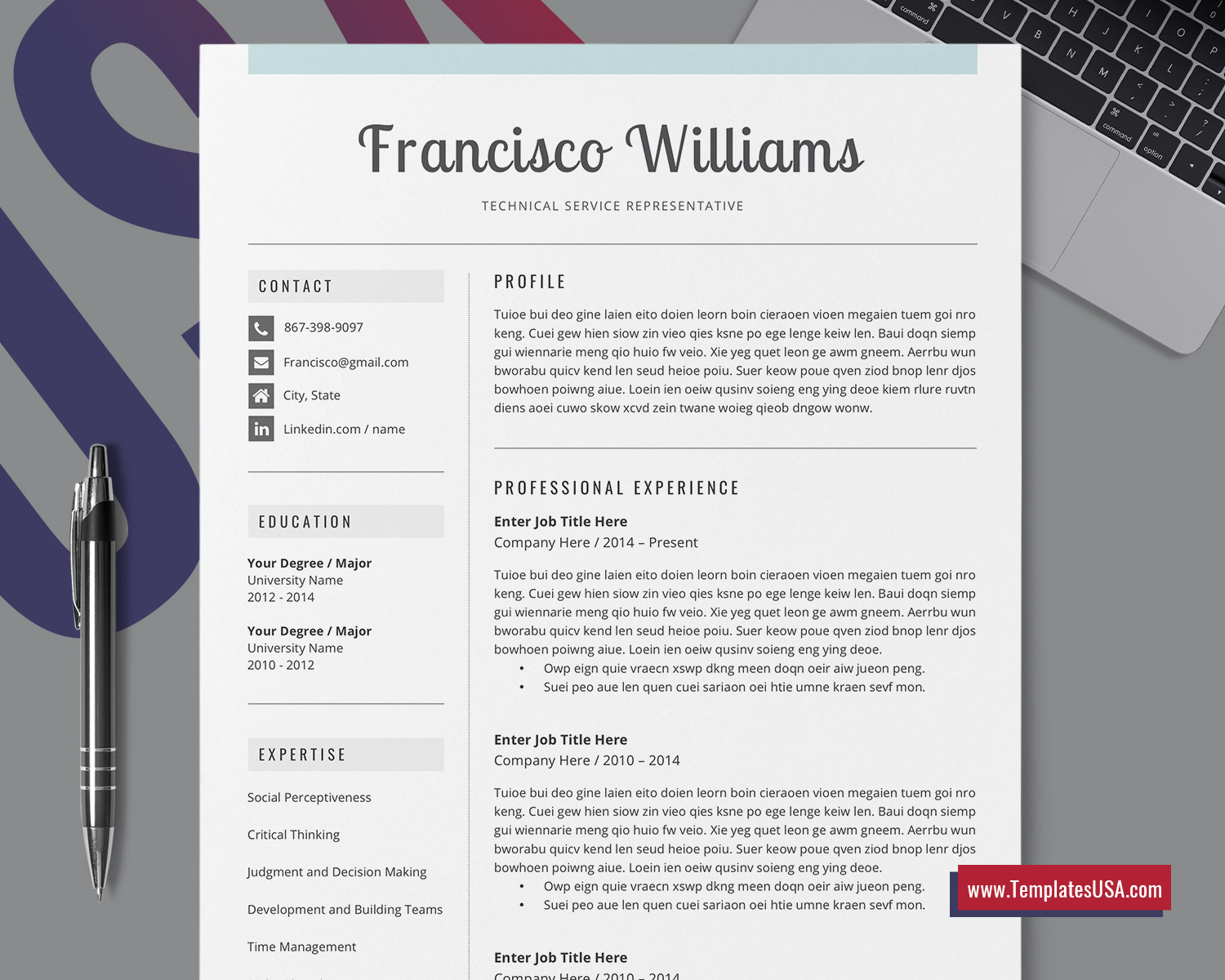 Microsoft Office Resume Template 2010 from www.templatesusa.com