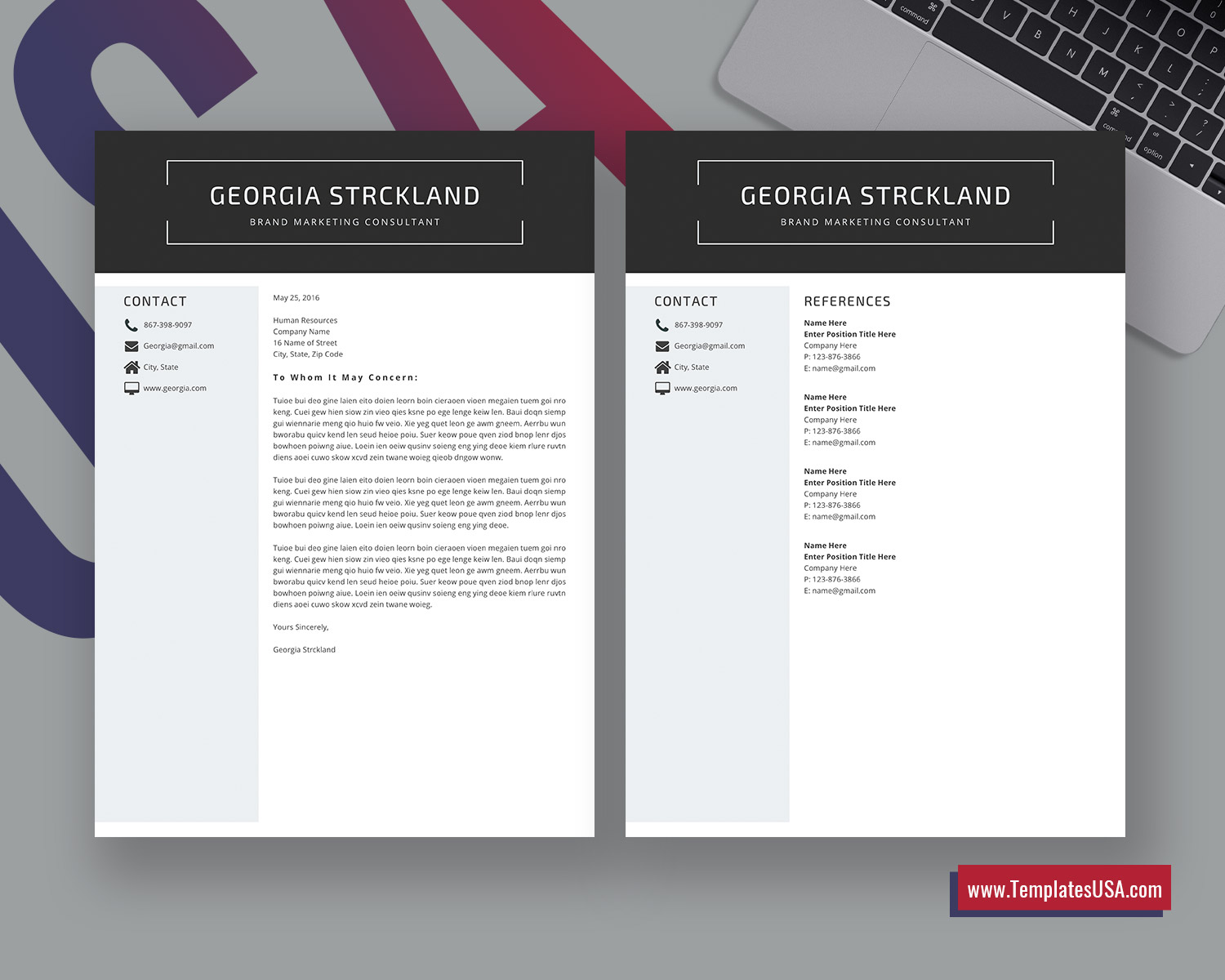 Clean Cv Template from www.templatesusa.com