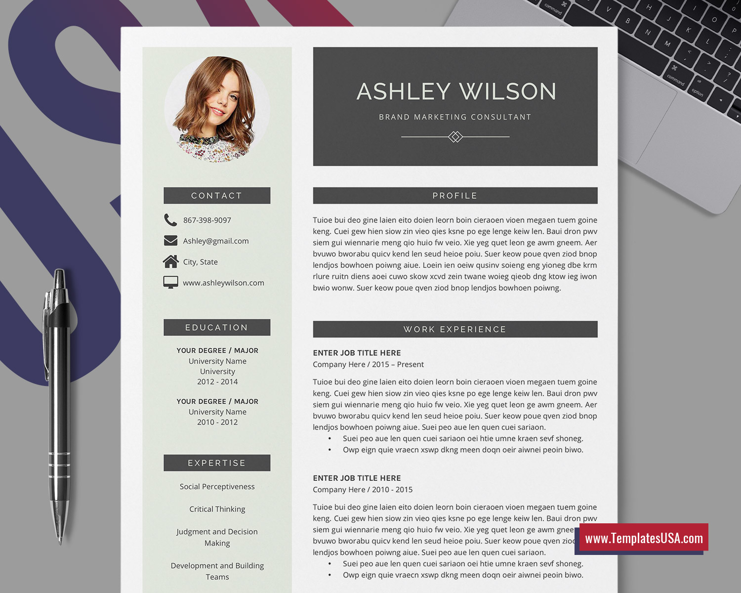 Templatesusa Com Best Selling Digital Resume Templates For